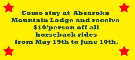 East Yellowstone Lodging Horseback Rides