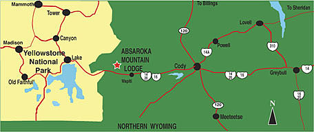 Cody Wy Lodging Map Absaroka Mountain Lodge