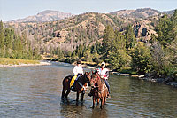 Cabins near Yellowstone - horseback riding